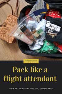 Pack like a flight attendant